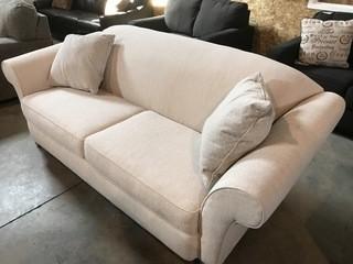 Rowe Camel Sofa w/ Pillow.