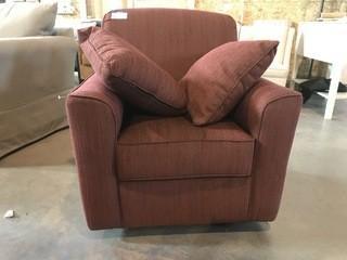 Rust Swivel Chair.