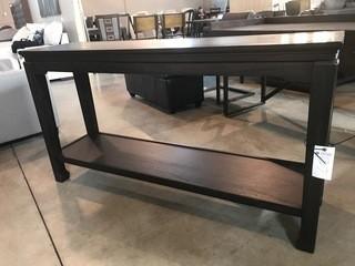Tall Dark Long Table 60 x 16 x 32.