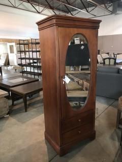 Armoir w/ Oval Mirror.