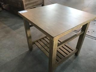 Light Brown Wood Coffee Side Table 24 x 24 x 24.