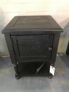 Reclaimed Side Table w/ Door 19 x 19 x 26.