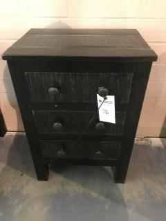 3 Drawer Side Table 18 x 13 x 26.5.