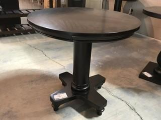 Round End Table Black 26 x 26 x 25.5.