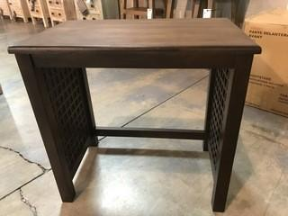 Brown Ladder Side Nesting Table 24 x 15 x 23.