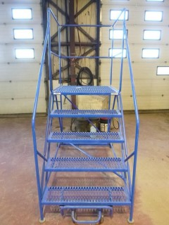Approx. 75in X 45in X 51in Portable Warehouse Ladder