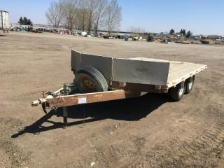 2005 RT Trailers 14' T/A Ball Hitch Snowmobile Trailer c/w ST225/75R15 Tires. S/N 2R9SS42A75W682434.