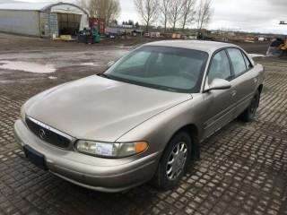 2002 Buick Century 4 Door Sedan c/w 3.1 L V6, Auto, A/C. Requires Repair. S/N 2G4WS52J521292478.