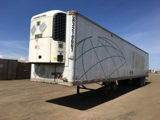 2002 Great Dane 53' T/A Van Trailer c/w Air Ride Susp., Thermo King Reefer, 11R22.5 Tires. S/N 1GRAA06272W014817