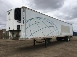 2002 Great Dane 53' T/A Van Trailer c/w Air Ride Susp., Thermo King Reefer. S/N 1GRAA06232W014829