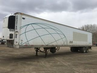 2003 Wabash 53' T/A Van Trailer c/w Air Ride Susp., Thermo King Whisper Reefer, 11R22.5 Tires. S/N 1JJV532W13L819216
