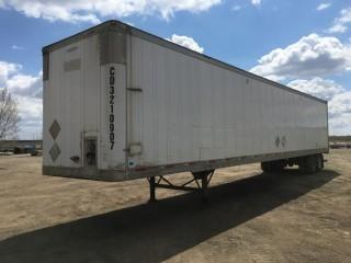 2002 Trailmobile 53' T/A Van Trailer c/w Air Ride Susp., 11R22.5 Tires. S/N 2MN01JAH421001942.