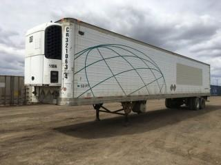 2003 Wabash 53' T/A Van Trailer c/w Air Ride Susp., Thermo King Whisper Reefer, 11R22.5 Tires. S/N 1JJV532WX3L819229.