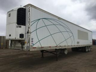 2005 Utility 53' T/A Van Trailer c/w Air Ride Susp., Thermo King Reefer, 11R22.5 Tires. S/N 1UYVS25315U508221.