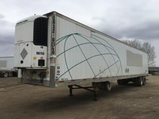 2006 Utility 53' T/A Van Trailer c/w Air Ride Susp., Thermo King Reefer, 11R22.5 Tires. S/N 1UYVS25386U745015