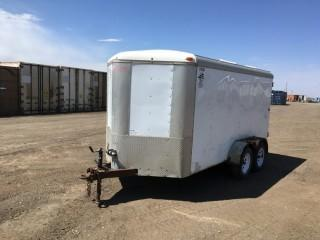 2012 Mirage 14' T/a Pintle Hitch Enclosed Trailer c/w ST20575R15 Tires. S/N 5M3BE1420C1050035