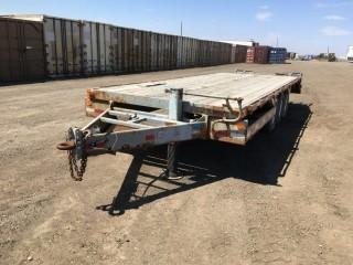1976 Atco Triaxle Pintle Hitch Trailer c/w Ramps, ST235/85R16 Tires. S/N 41027.