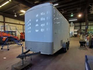 2014 14ft Enclosed Trailer w/ 7ft Ramp. VIN 5WBBE1423EW008894