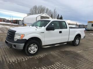 2009 Ford F150 XL 4x4 Extended Cab P/U c/w 5.4L, Auto, A/C, Showing 274,964 Kms. S/N 1FTPX14V29FA47918. Note: Requires Repair, Hole in Valve Cover Over Timing Chain.