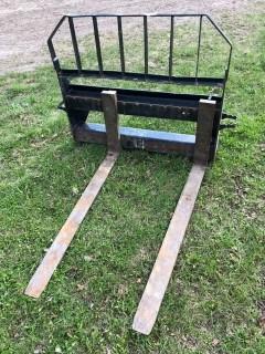 John Deere 48in X 53 1/2in X 41in Skidsteer Forks