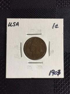 1907 US  Indian Head 1 Cent
