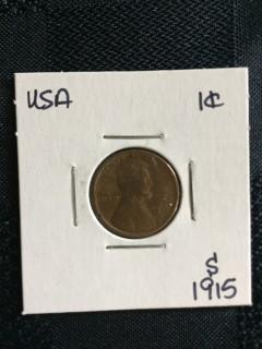1915s US Wheat 1 Cent