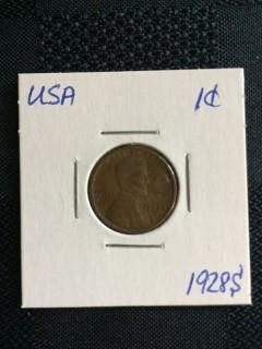 1928s US Wheat 1 Cent