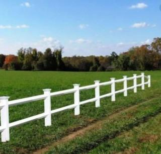 2-Rail Vinyl Ranch Fencing, 450 linear feet.