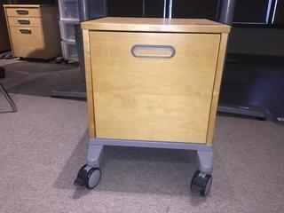 1-Drawer Rolling File Cabinet.