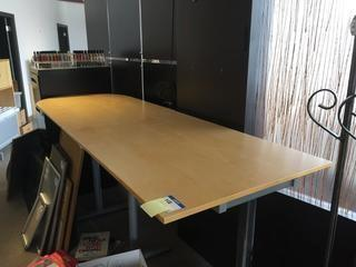 "Office Desk, 94"" x 31-1/2"" x 43""."