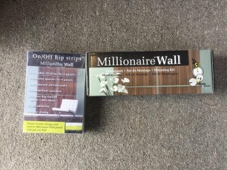 "Millionaire Wall ""Granite""  26-1/2"" Square Decorative Wall Panels, Rip Strips & Mounting Kit."
