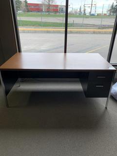 "Desk With Drawers, 70"" x 36""."