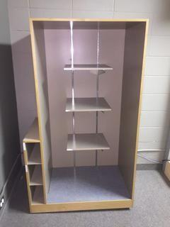 "Office Storage Cabinet, 38-1/2"" x 24"" x 67""."