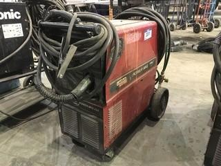Lincoln Electric Power Mig 255C Mig Welder w/ Cart, Hoses, Gun etc.