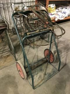 Oxy/ Acetylene Cart w/ Hoses, and Torch.