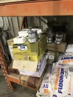 Lot of Asst. Welding Flux, Mig Wire, etc.