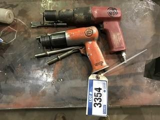 Lot of (2) Pneumatic Air Chisels