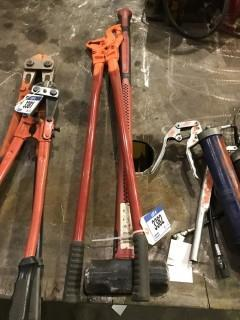 Lot of Tire Chain Pliers and Sledge Hammer
