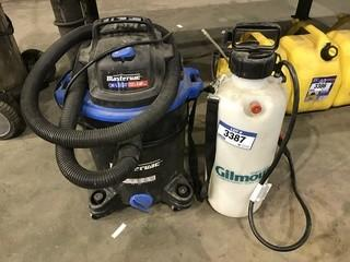 Lot of Chemical Wand Applicator and Mastercraft Shop Vac