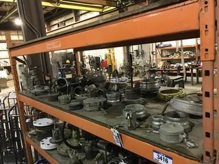 Contents of Pallet Racking including Asst. Camlocks, Flanges etc.