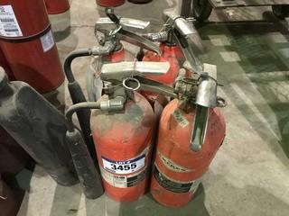 Lot of (4) Fire Extinguishers