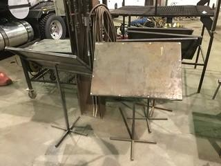 Lot of (5) Steel Work Stands
