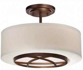 Loon Peak Giroflier 3-Light Semi-Flush Mount - DK Brushed Bronze (LNPK8487)