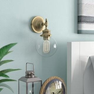 Breakwater Bay Adley 1-Light Armed Sconce - Natural Brass (BKWT2739_22830094)