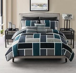 Mercury Row 7 Piece Reversible Quilt Set - Blue - Queen (MCRR2609_15739947_15739946)