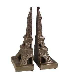 Sagebrook Home Eiffel Tower Book Ends (SGBH2267)