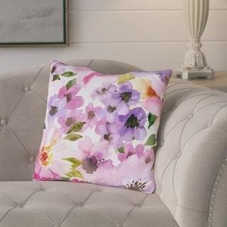 Lot (4pcs) August Grove Daisey Face Throw Pillow (AGGR4852_21812588)