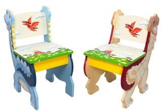 Teamson - Fantasy Fields - Dinosaur Kingdom - Set of 2 chairs -