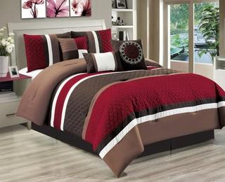 Andover Mills Marengo 7 Piece Comforter Set - Red - Queen (ANDV2226_24102507_24102508)