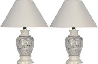 Charlton Home Merle 15 Table Lamp - Set of 2 - Ivory (CHRL8074_24735724)